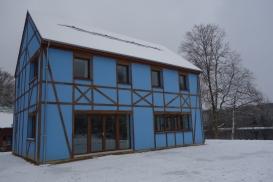 En Creuse, cette maison bleue est verte